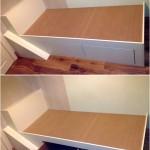 Toddler storage bed