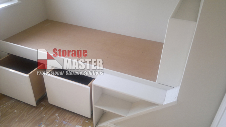 Cd storage master professional largest real estate for Stair box in bedroom ideas